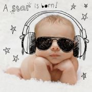 A Star is Born New Baby Boy Greeting Card